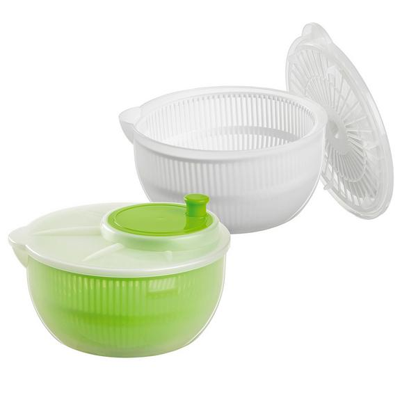 Salatschleuder Sandy - Transparent/Weiß, Kunststoff (23,5/11,5cm) - Mömax modern living