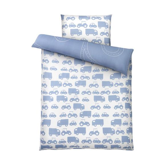 Lenjerie De Pat Wheels Wende - albastru/alb, Modern, textil (140/200cm) - Mömax modern living