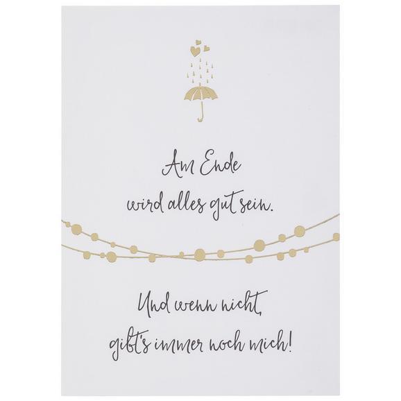 Postkarte Am Ende wird alles gut sein - Goldfarben/Schwarz, MODERN, Papier (10,5/14,8cm)