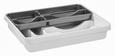 Evőeszköz Tartó Amalie - fehér/szürke, műanyag (39.5/7/30.5cm) - MÖMAX modern living