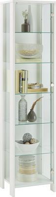 Vitrina Nova - aluminij/bela, Moderno, kovina/steklo (44/183/37cm) - Mömax modern living