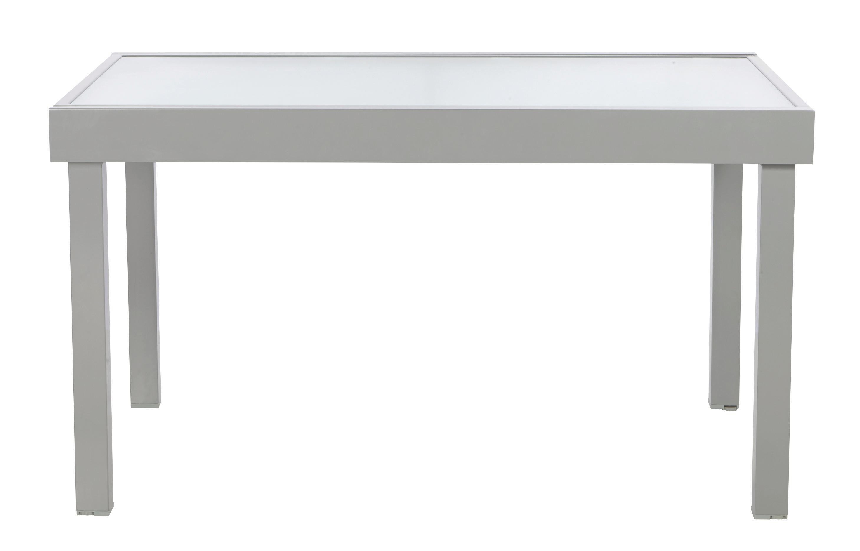 Gartentisch Navarra in Silberfarben - Silberfarben, Glas/Kunststoff (135-270/75/90cm) - MÖMAX modern living