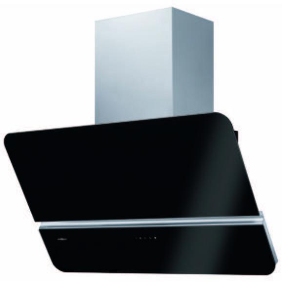 Dunstabzugshaube 862390 - Graphitfarben/Schwarz, Glas/Metall (89,8/87-126/35cm) - Oranier