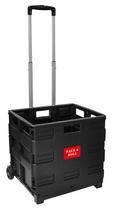 Klappbox-trolley Kenny Schwarz - Schwarz, Kunststoff/Metall (43/97/38cm) - Mömax modern living