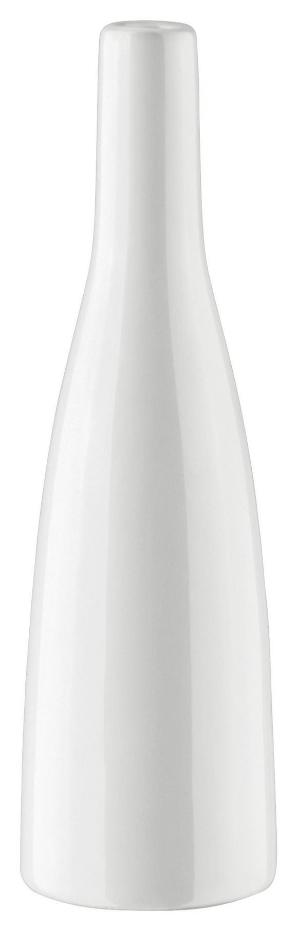 Vase Plancio in Weiß aus Glas - Weiß, MODERN, Keramik (20.5cm) - Mömax modern living