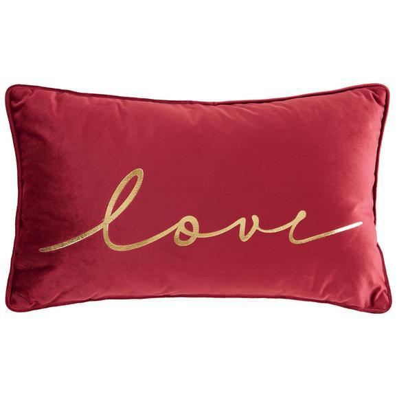 Zierkissen Love Bordeaux ca.30x50cm - Bordeaux, Trend, Textil (30/50cm) - Mömax modern living