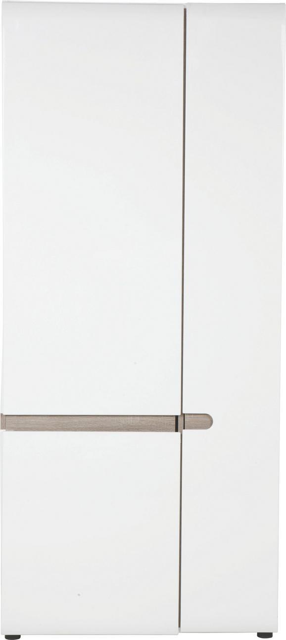 Garderobenschrank in Weiß mit 2 Türen - MODERN (85/195/37cm) - MÖMAX modern living