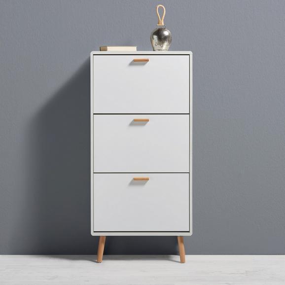 Schuhschrank Claire - Naturfarben/Weiß, MODERN, Holz (60/120/23,5cm) - MÖMAX modern living