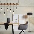 Leuchtenschirm Arno, max. 60 Watt - Schwarz, MODERN, Textil/Metall (50/50/25cm) - Mömax modern living