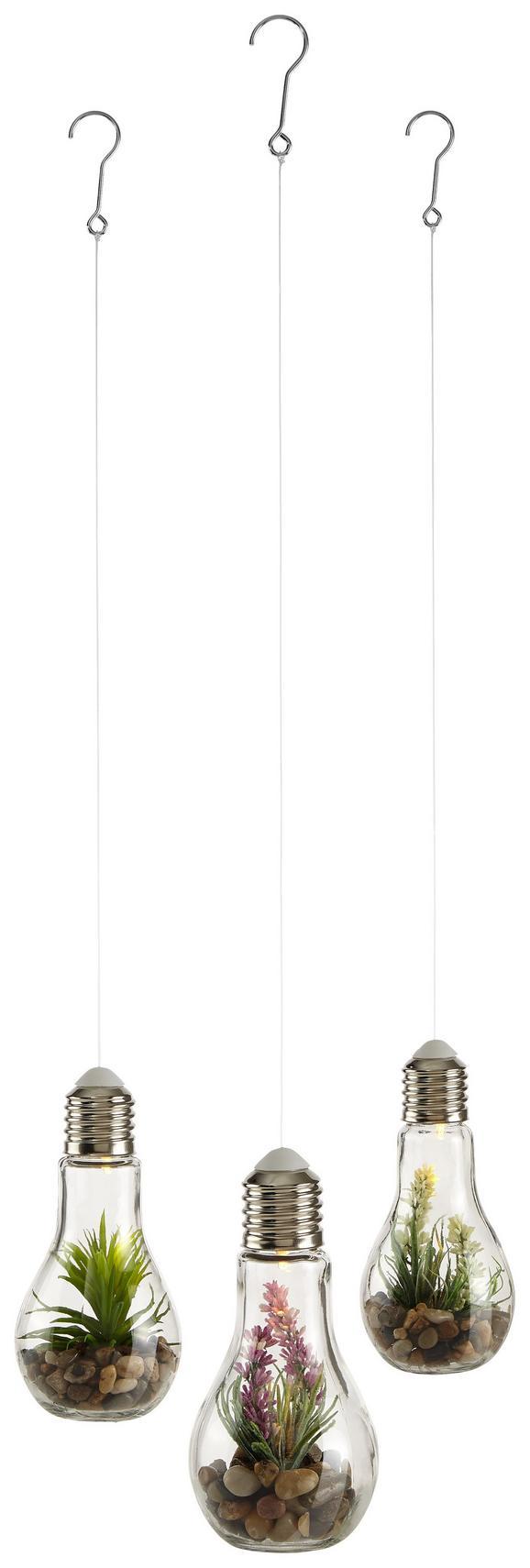 LED-Dekoleuchte Bettina verschiedene Designs - Glas/Kunststoff (9/9/18cm)