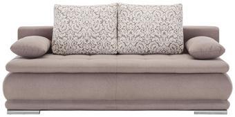 Schlafsofa Braun mit Bettfunktion - Alufarben/Braun, ROMANTIK / LANDHAUS, Textil (200/70/105cm) - ZANDIARA