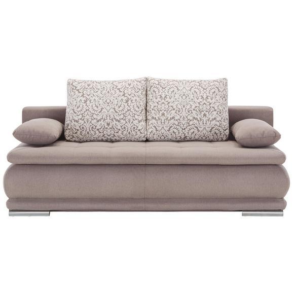 Trosjed Clip - smeđa/boje aluminija, Romantik / Landhaus, tekstil (200/70/105cm) - Zandiara