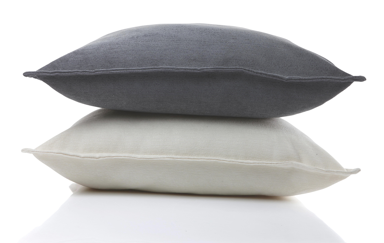 Zierkissen Chenille Kord, ca. 60x60cm - Weiß, KONVENTIONELL, Textil (60/60cm) - MÖMAX modern living