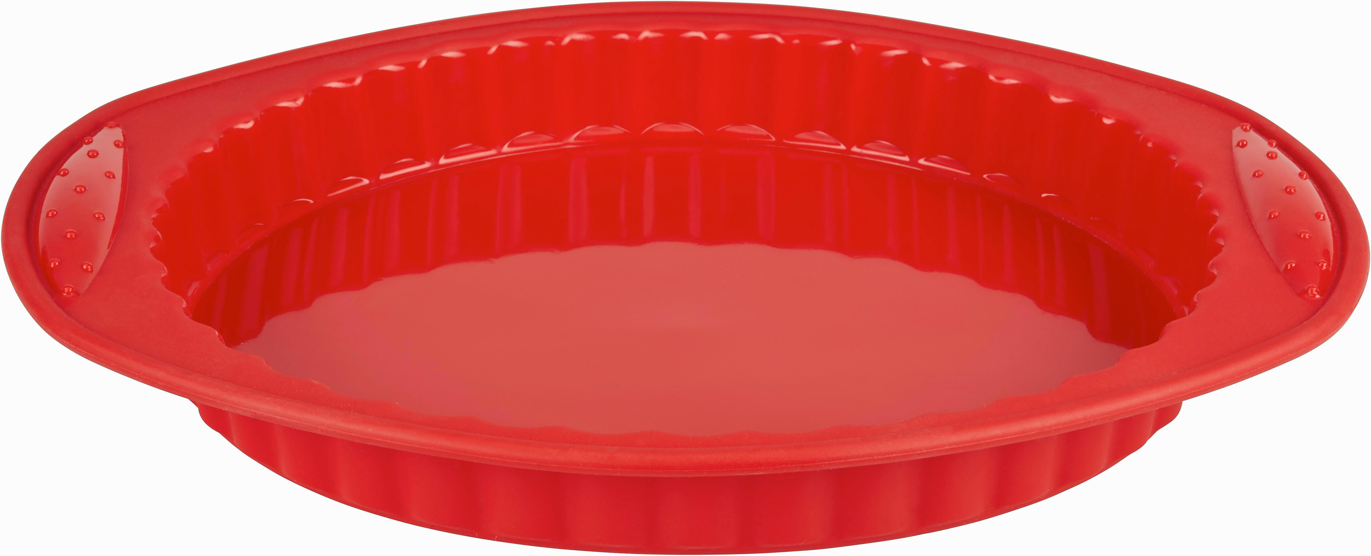 Backform Silke in Rot aus Silikon - Rot, Kunststoff (30/26,5/3cm) - MÖMAX modern living