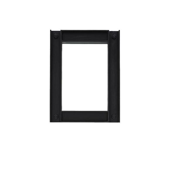Spiegel in Schwarz - Schwarz, LIFESTYLE, Holz (90/120/6cm) - Zandiara