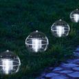 Garten-/Schwimmleuchte LED-Solar Alvaro ca. Ø 11 cm - Klar, MODERN, Kunststoff (11/11cm)