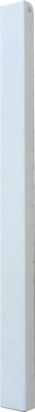 Hakenleiste Weiß - Weiß, Metall (4,3/44/2,3-42cm) - Mömax modern living
