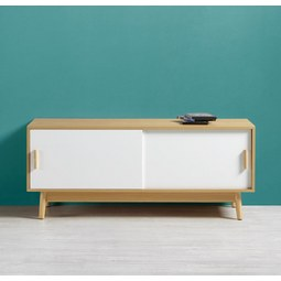TV-möbel Aliona - Eschefarben/Weiß, MODERN, Holz (120/50/40cm) - Modern Living