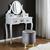 Hocker Julene - Goldfarben/Grau, MODERN, Textil/Metall (39/40cm) - Modern Living