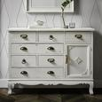 KOMMODE in Weiß 'Lewis Vintage' - Weiß, MODERN, Holz/Metall (105/80/34cm) - Bessagi Home