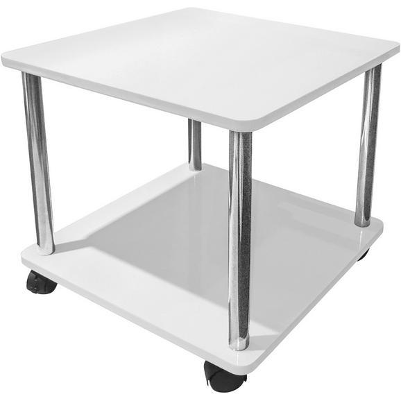 Masă Auxiliară 'paul' - alb, Modern, plastic/compozit lemnos (40/41,5/40cm)