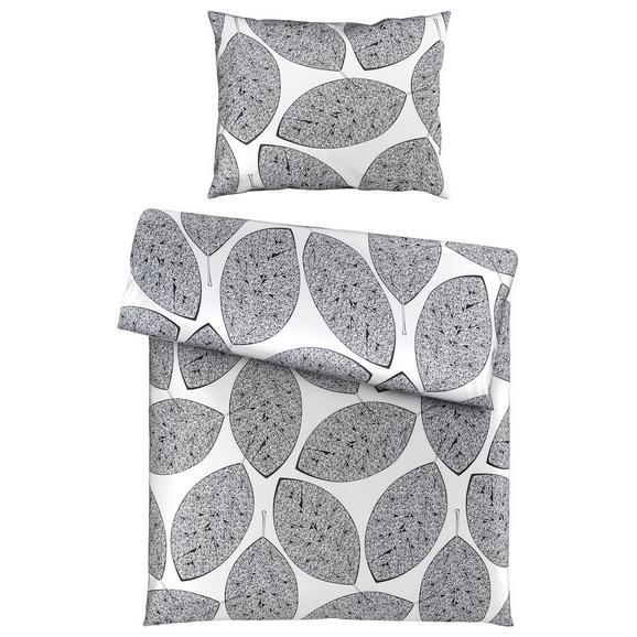 Bettwäsche Rens in Schwarz ca. 140x200cm - Schwarz/Weiß, Textil (140/200/1cm) - Premium Living