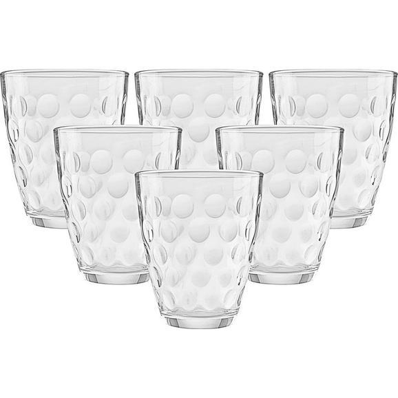 Set Pahare Dots - clar, sticlă (17,0/25,7/10,90cm) - Modern Living