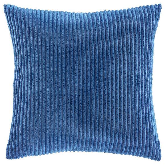 Kissen in Blau 'Layla' ca. 45x45cm - Blau, MODERN, Textil (45/45cm) - Bessagi Home