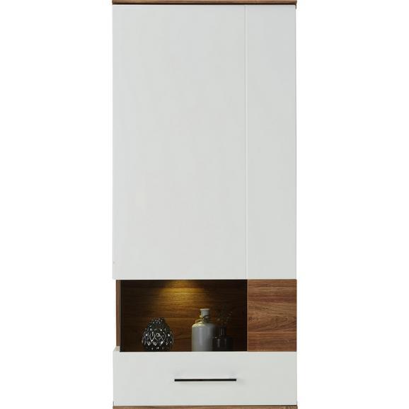 Hängeelement in Weiß Hochglanz - Weiß, MODERN, Holz (60/133/37cm) - Premium Living