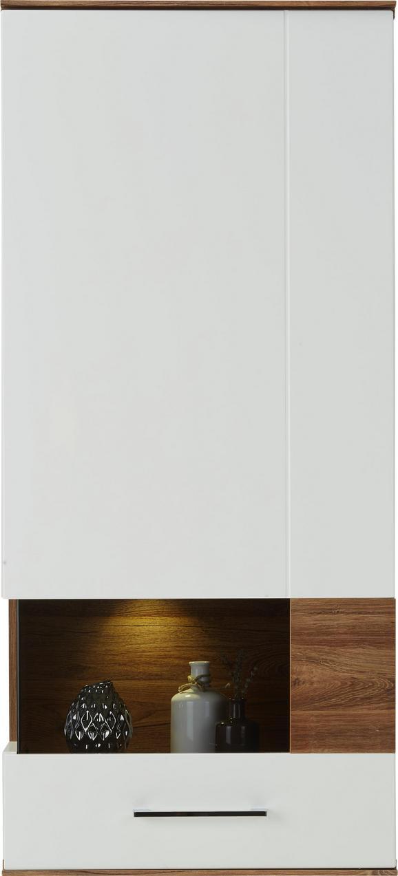 Hängeelement Weiß/Akazie - Weiß, MODERN, Holz (60/133/37cm) - Premium Living