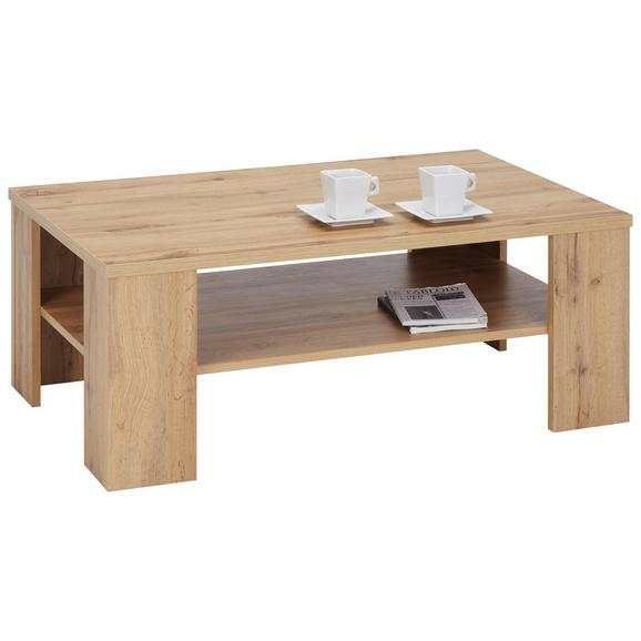 Klubska Miza Umberto - hrast, Konvencionalno, leseni material (100/39/63cm) - Modern Living