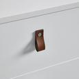 KOMMODE in weiß 'Mick' - Schwarz/Weiß, MODERN, Holzwerkstoff/Kunststoff (46/77/40cm) - Bessagi Home