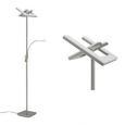LED-Stehleuchte Rocco max. 13 Watt - Silberfarben, Kunststoff/Metall (60cm)