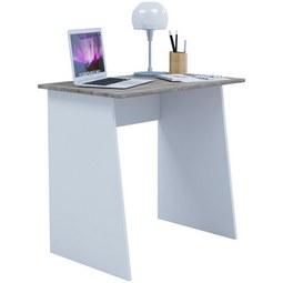 Schreibtisch in Weiss ca. 80x74x50 cm 'Masola Mini' - Eichefarben/Weiß, Basics, Holzwerkstoff (80/74/50cm) - Livetastic