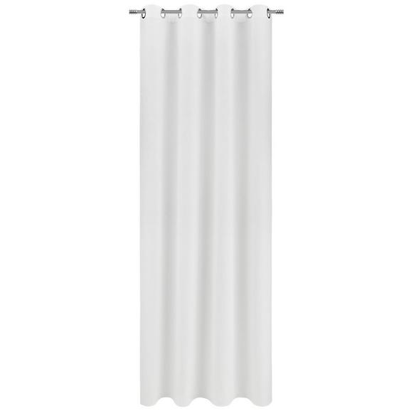 Zavesa Z Obročki Ulli -ext- -eö- - bela, tekstil (140/245cm) - Mömax modern living