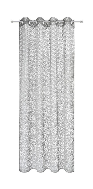 Zavesa Z Obročki Astrid - srebrna, Moderno, tekstil (140/245cm) - Mömax modern living