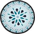 Strandtuch Mandala ca. 150cm - Türkis/Schwarz, Textil (150cm) - MÖMAX modern living