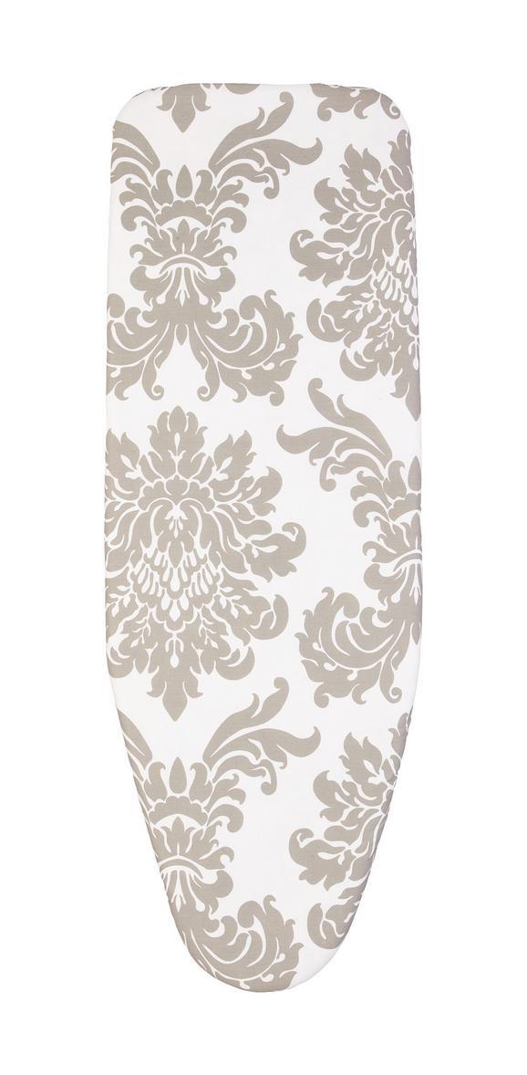 Bügelbrettbezug Kate - Weiß/Grau, Textil (50/130cm) - Mömax modern living