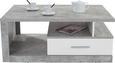 Klubska Miza Iguan - siva/bela, Moderno, leseni material (110/45/67cm)
