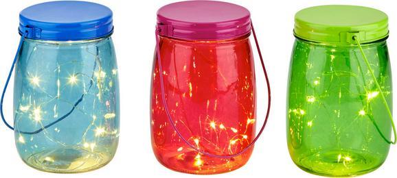 LED-Dekoleuchte Dotty inkl. Batterien - Türkis/Pink, Glas (11/15cm)