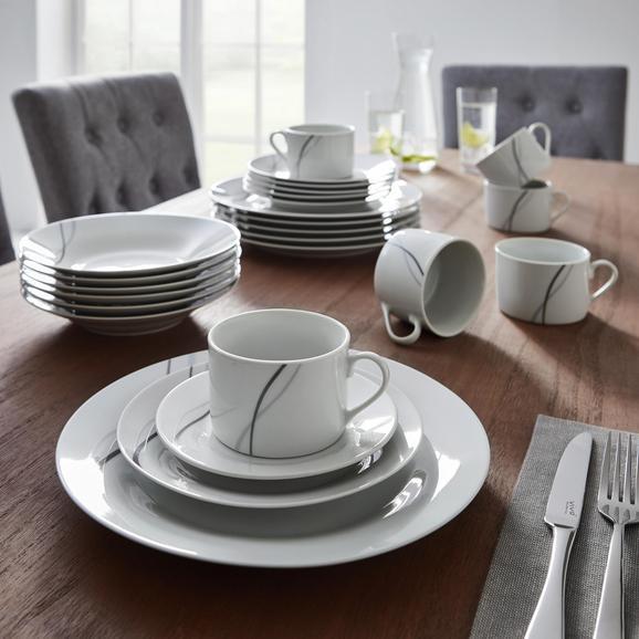 Kombiservice Alessia 30-tlg. - Dunkelgrau/Hellgrau, MODERN, Keramik - Mömax modern living