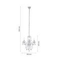 Hängeleuchte ISABELLA max. 40 Watt - Klar/Chromfarben, ROMANTIK / LANDHAUS, Kunststoff/Metall (35/125cm) - Mömax modern living