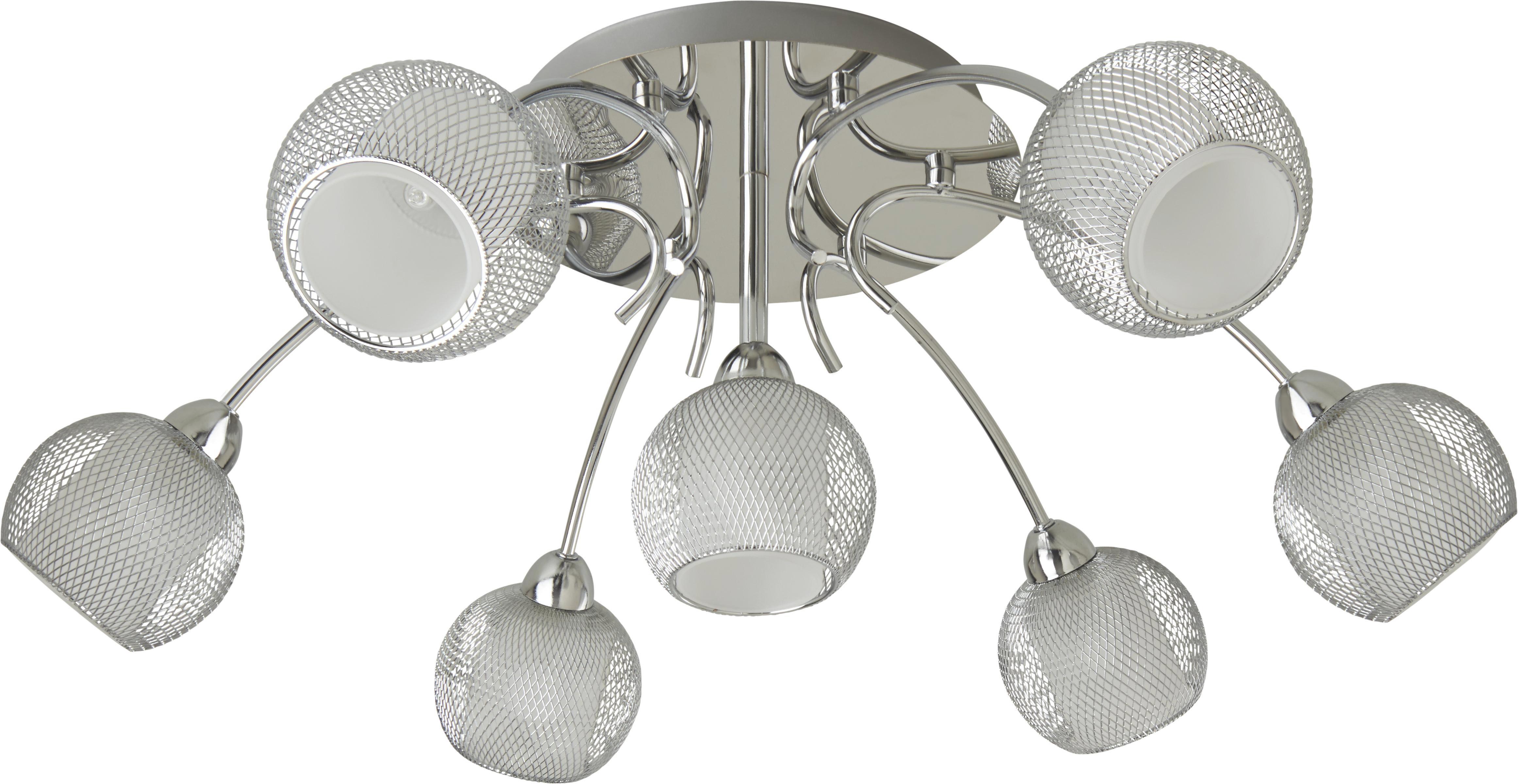 LED-Deckenleuchte Bovary - Chromfarben, MODERN, Glas/Metall (65/65/20cm) - MÖMAX modern living