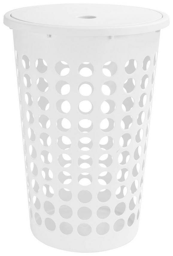 Ruháskosár Kerek - fehér, konvencionális, műanyag (60l) - MÖMAX modern living