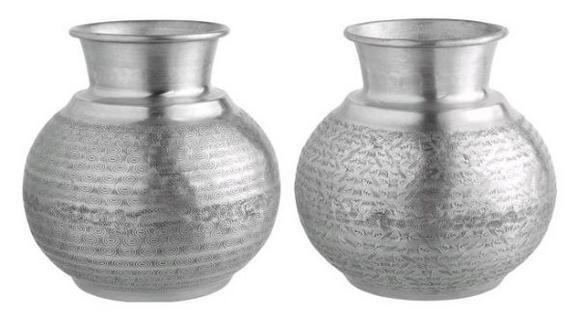 Vase Sahara In Versch. Designs - Silberfarben/Kupferfarben, Metall (23/22,5cm)