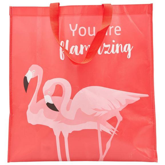 Bevásárlótáska Flamingo Couple - Világosszürke/Rózsaszín, modern, Műanyag (45/47/17,5cm) - Mömax modern living