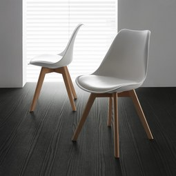 Stuhl Judy - Buchefarben/Weiß, MODERN, Holz/Kunststoff (49/81/58cm) - Mömax modern living
