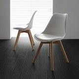 Stuhl Judy - Weiß, MODERN, Kunststoff/Textil (49/81/58cm) - Mömax modern living