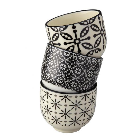 Becher Shiva in Schwarz/Weiß - Schwarz/Weiß, LIFESTYLE, Keramik (7/6cm) - Mömax modern living
