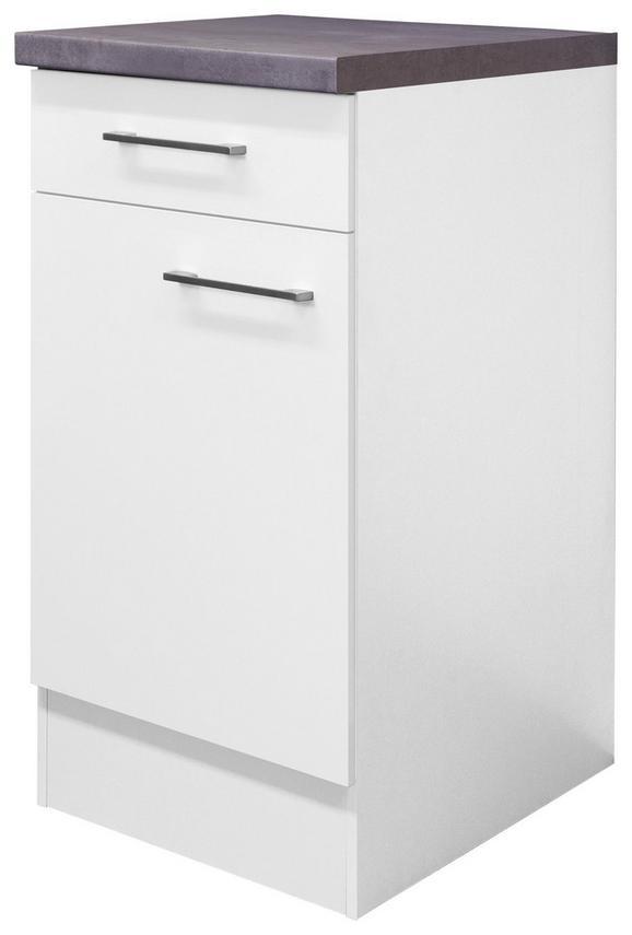 Kuhinjska Spodnja Omarica Neo - bela/nerjaveče jeklo, Moderno, kovina/leseni material (40/86/60cm)